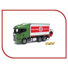 Игрушка Bruder Scania Фургон с погрузчиком и паллетами