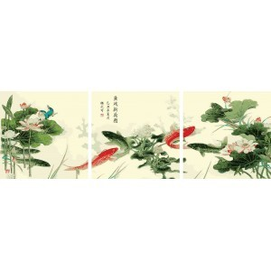 Картина по номерам В цветах лотоса