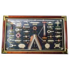 Панно Морские узлы (73x43 см, черный фон)