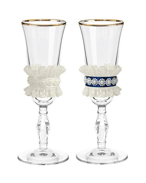 Набор свадебных бокалов Ретро №7 в картонной упаковке