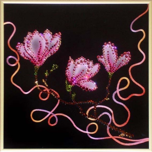 Картина с кристаллами Swarovski Цветок любви