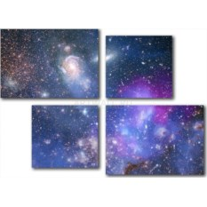 Модульная картина «Звездное небо» 60×43 см