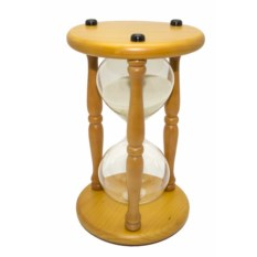 Часы песочные на 30 минут с белым песком