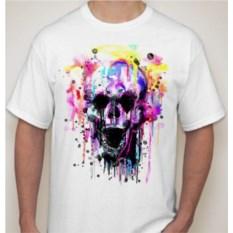 Мужская футболка Череп в красках