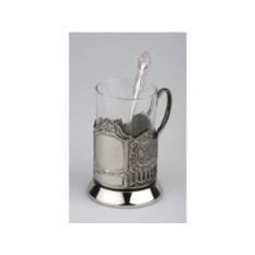 Набор: стакан с подстаканником и ложкой