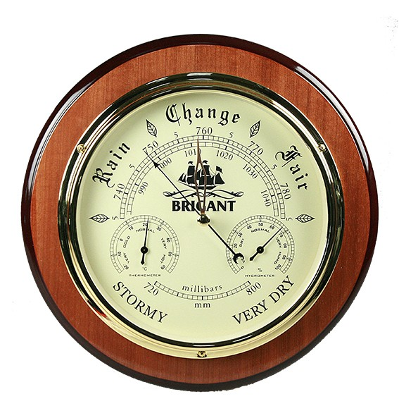 Барометр-метеостанция настольная: термометр, гигрометр