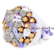 Букет с конфетами Ferrero Rocher Конфетная свадьба