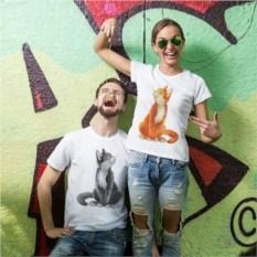 Парные футболки «Котики»