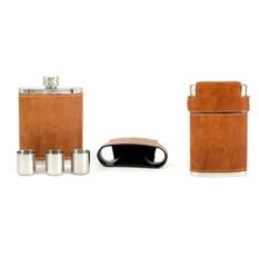 Подарочный набор: фляжка и 3 стаканчика