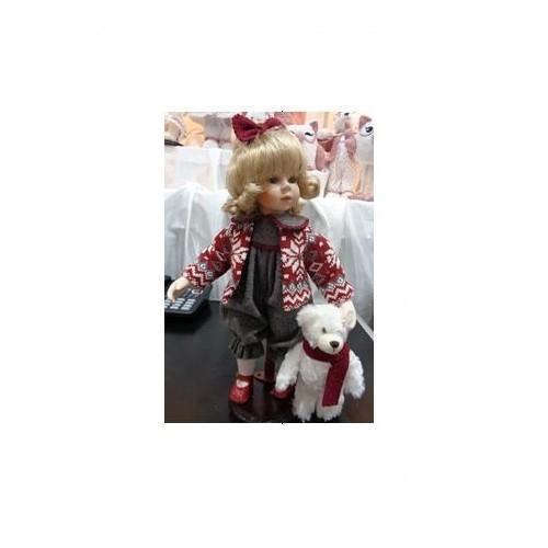 Коллекционная кукла Девочка с мишуткой