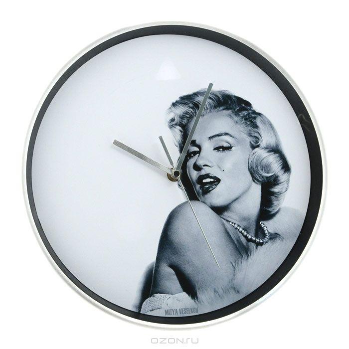 Часы настенные Mitya Veselkov Монро на белом