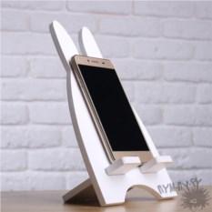 Подставка для телефона и планшета Белый заяц