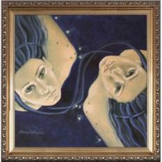 Красивый портрет для женщины-близнеца