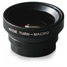Объектив для iPhone и любого телефона Wide + Macro Black