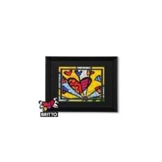 Постер Britto в деревянной рамке, коллекция Heart 3