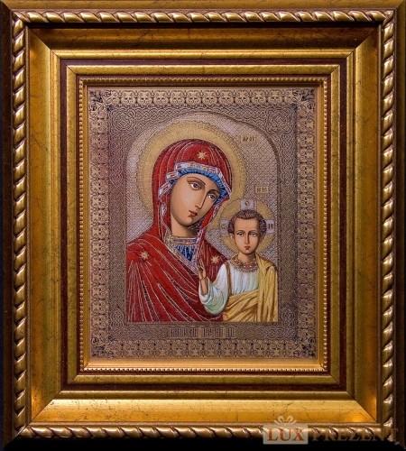 Гравюра Икона Казанской Божией матери