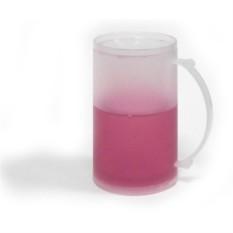Розовая ледяная кружка