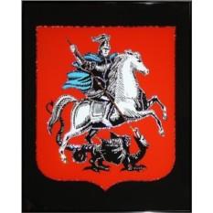 Хрустальная картина Герб Москвы 40х50
