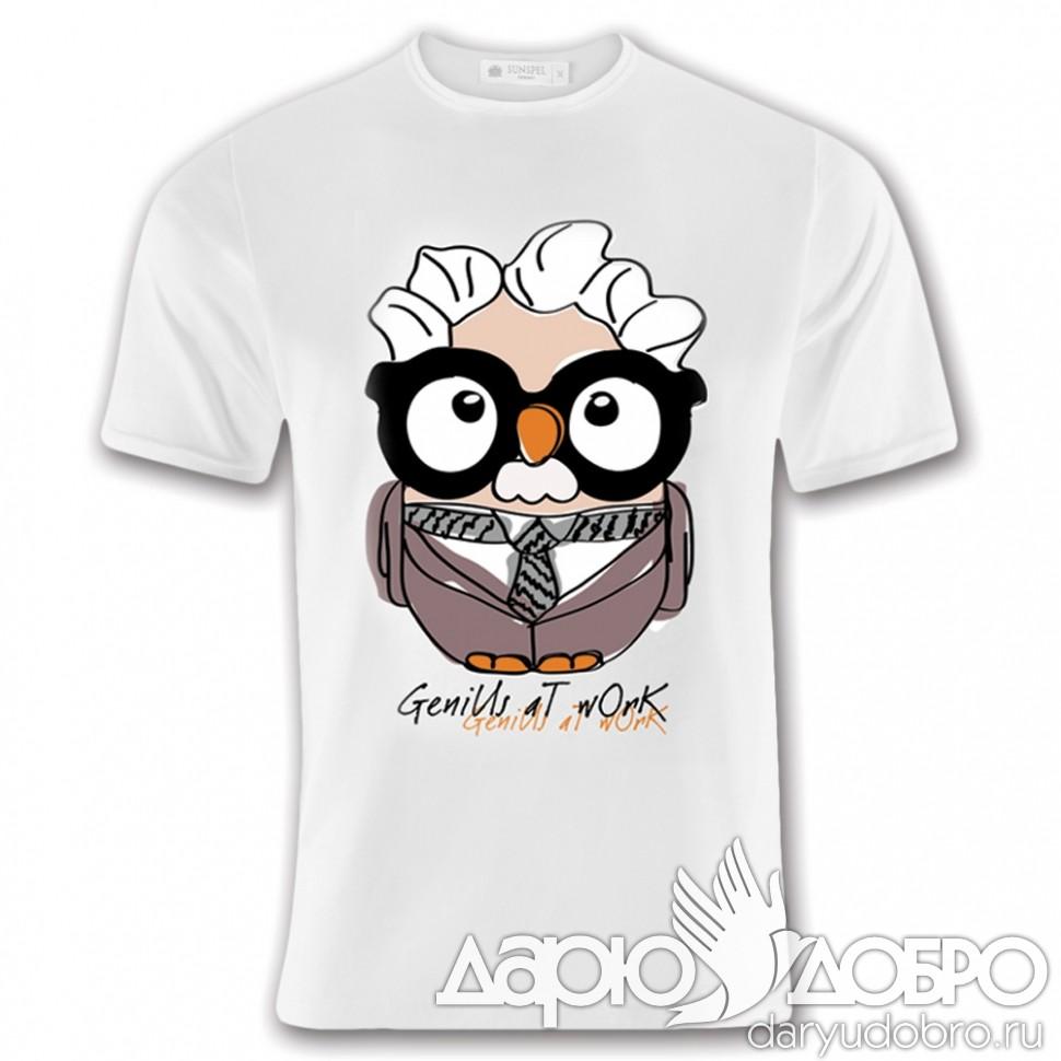 Мужская футболка с совой Альберт