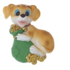Магнит Собака с мешком монеток