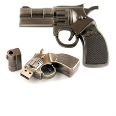 Флешка Револьвер из металла