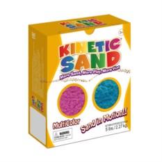 Кинетический песок фиолетового и синего цвета