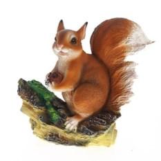 Декоративная садовая фигура Белочка с орешком