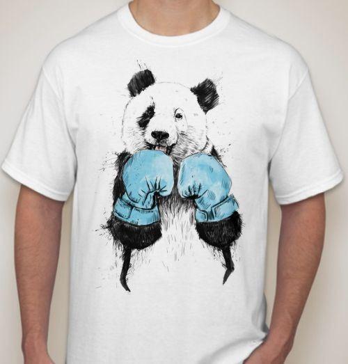 Мужская футболка Панда боксер