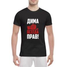 Мужская футболка Дима всегда прав