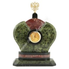 Часы из змеевика Корона