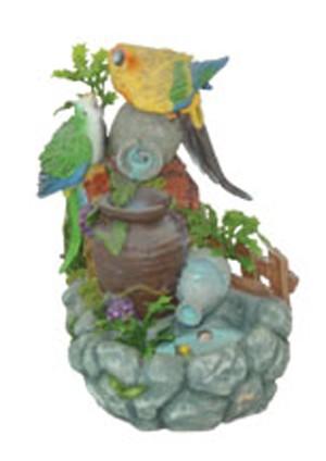 Фонтан с помпой 2 попугая и кувшины