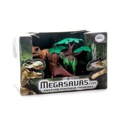 Игровой набор 3 динозавра и дерево Megasaurs (HGL)