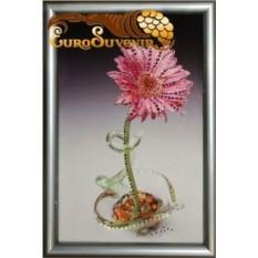 Картина Swarovski Гербера 536 кристаллов, 20х30 см