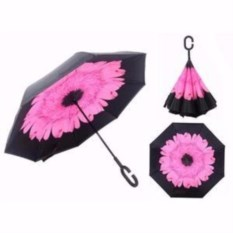 Зонт-наоборот Розовый цветок