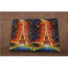 Кожаная обложка для паспорта Рисунок Парижа