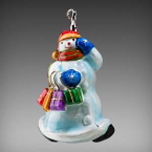 Снеговик с покупками