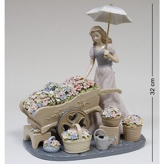 Композиция Девушка с цветами