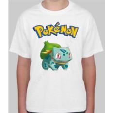 Детская футболка с покемоном Бульбазавр