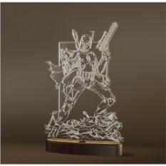 3D светильник Onilight Бобба Фетт