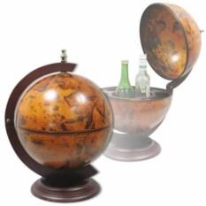 Деревянный мини-бар Глобус, диаметр 33 см