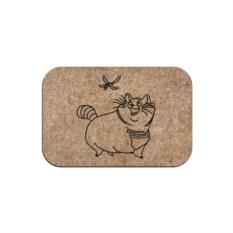 Придверный коврик Кот и стрекоза