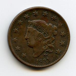 Монета «США 1 цент»