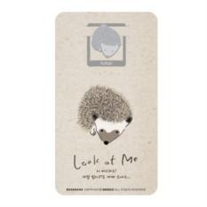 Закладка с открыткой Funny Fat Hedgehog