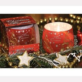 Свеча Счастливого Рождества