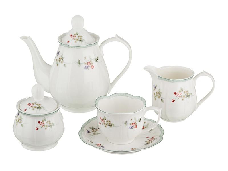 Чайный сервиз Ягодка на 6 персон из 15 предметов