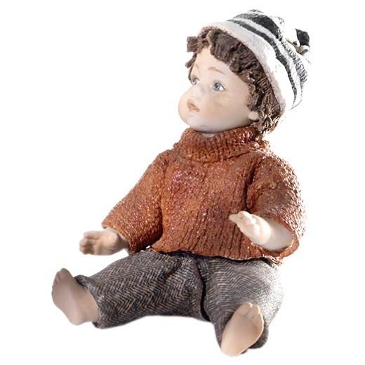 Фарфоровая статуэтка Мальчик Зима Sibania