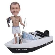Статуэтка рыбака по фото На катере