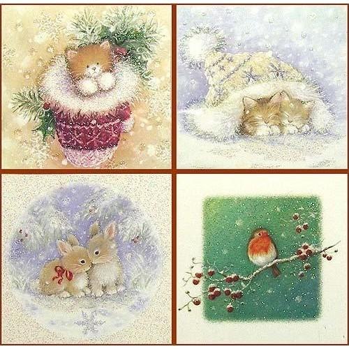 Новогодние открытки маленькие