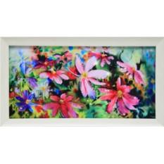 Картина с кристаллами Swarowski Цветы Космеи