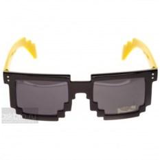 Пиксельные очки с желтыми дужками